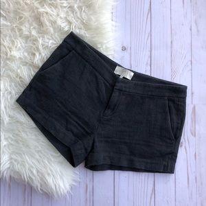 Joie Black Textured Shorts